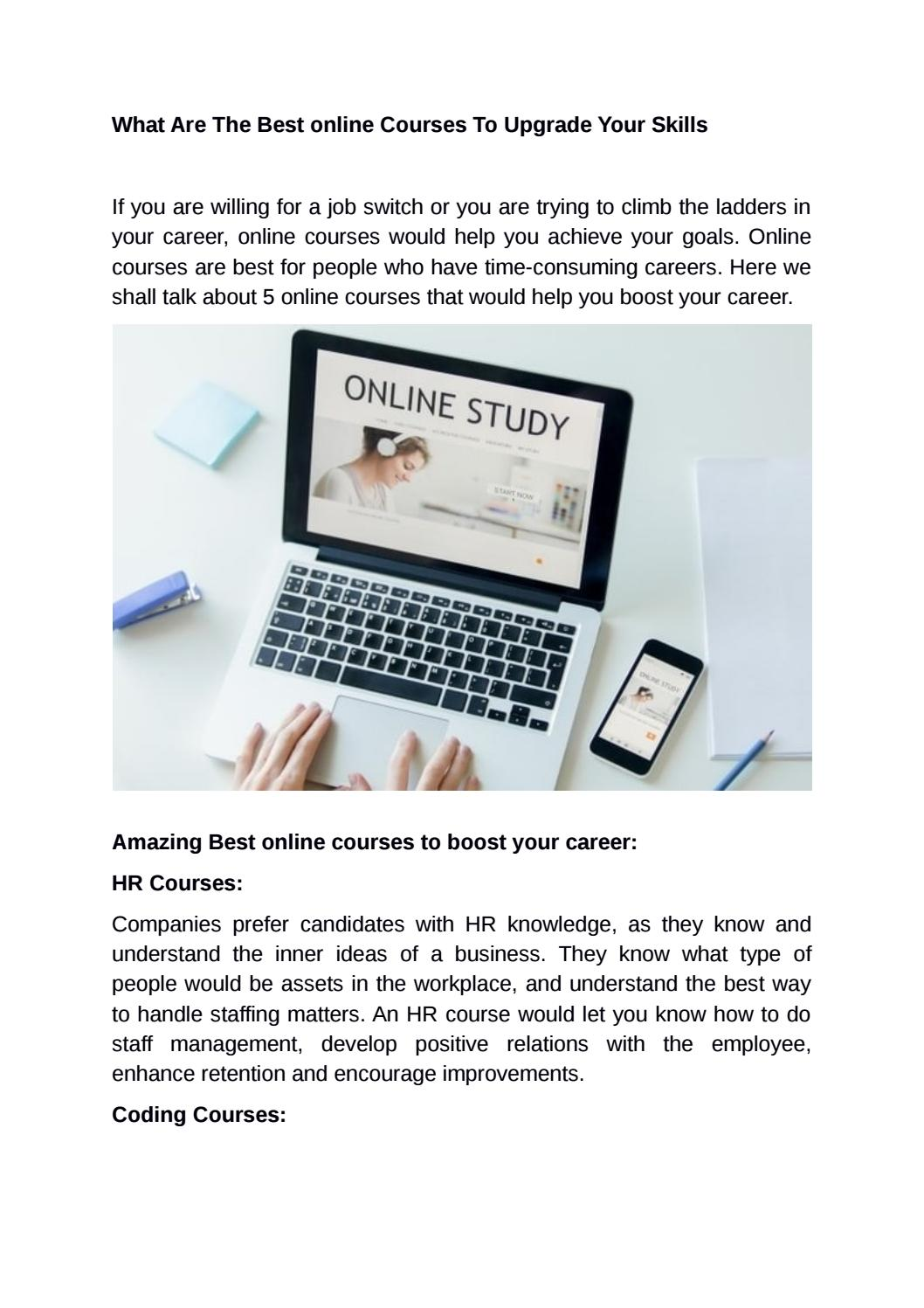 What Are The Best online Courses To Upgrade Your Skills by