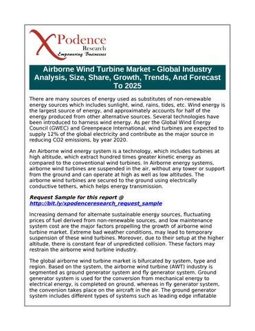 Airborne wind turbine market global industry analysis, size