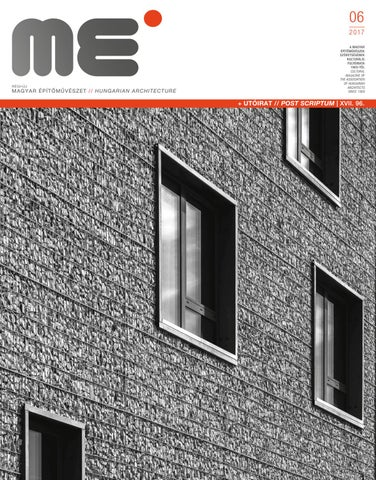 Hungarian Architecture 2017 6 by Hungarian Architecture - issuu ec8161a2bc
