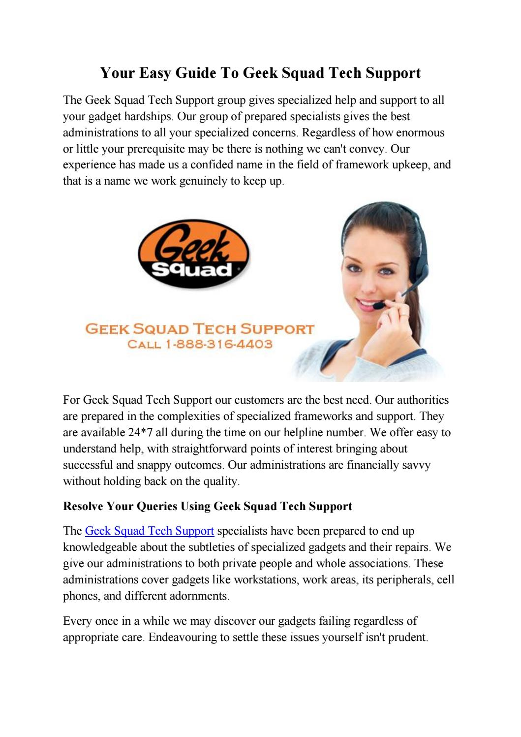 Your easy guide to geek squad tech support by Geek Squad Tech Support -  issuu