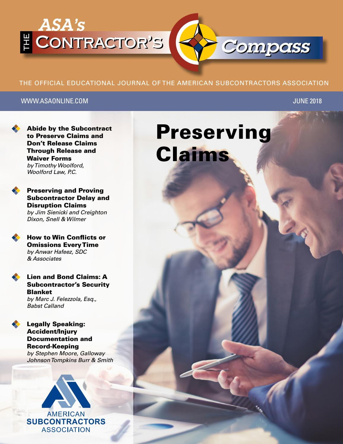 The Contractor S Compass June 2018 By American