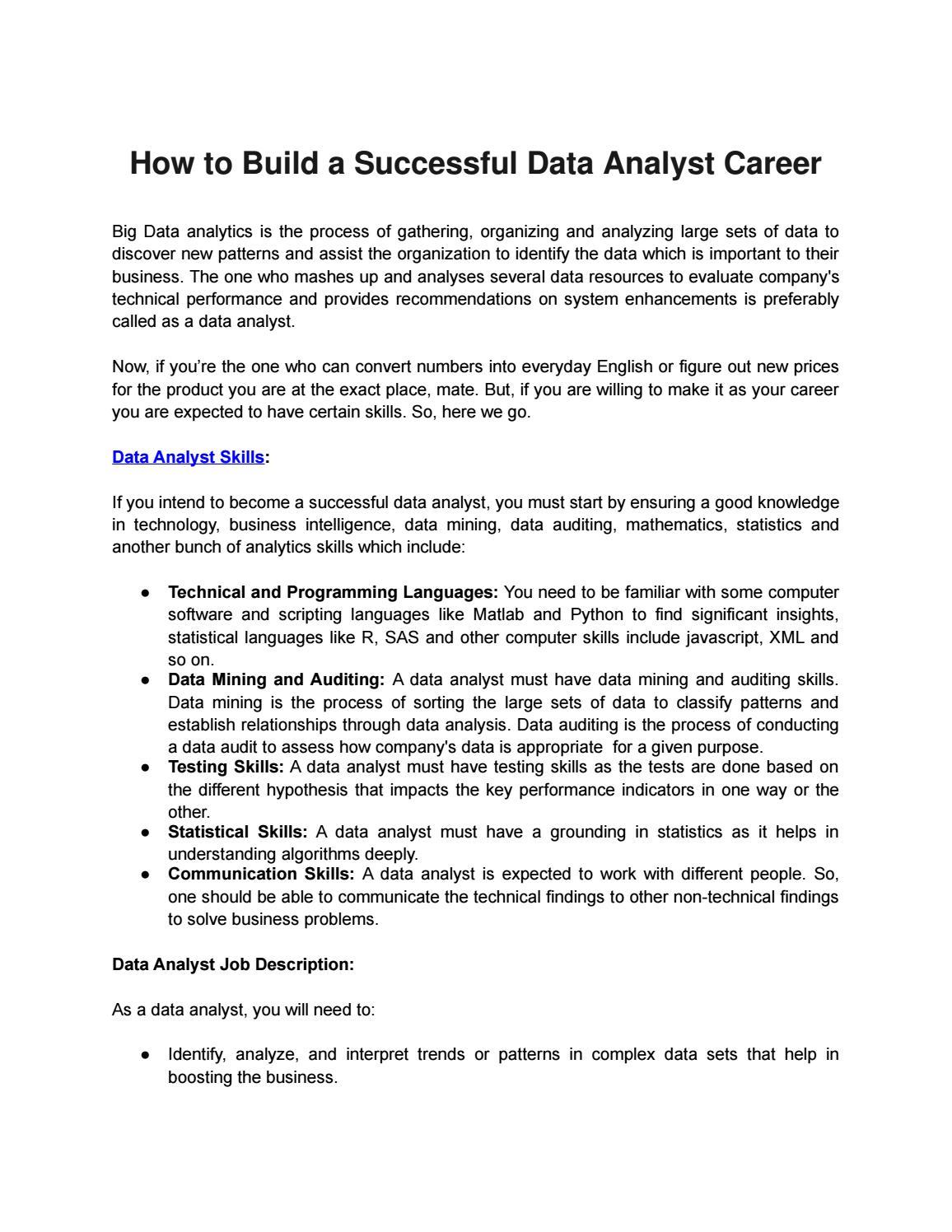 Big data analyst by EduPristine - issuu