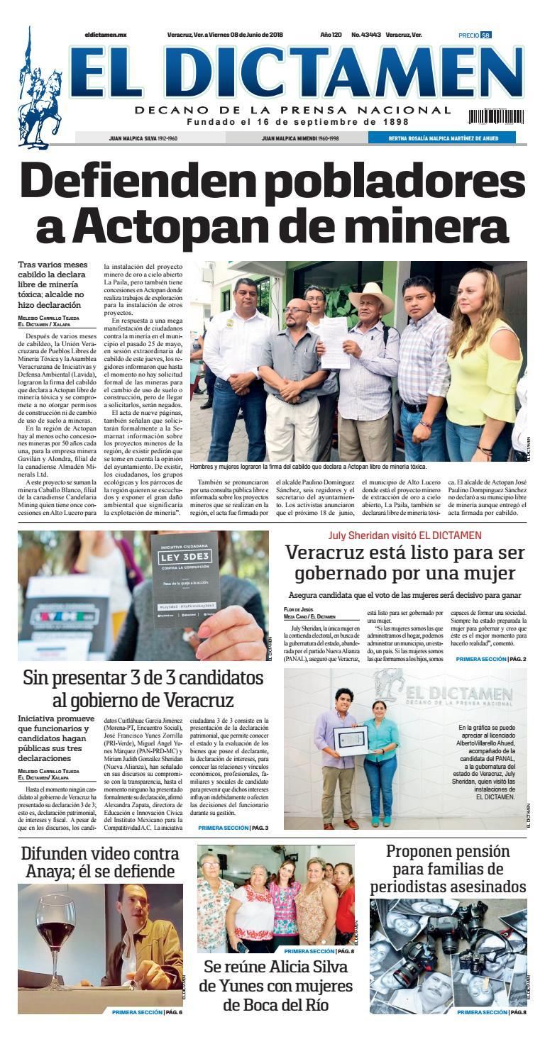 El Dictamen 08 de Junio 2018 by El Dictamen - issuu
