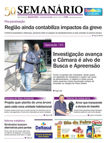 80fd25ed59f91 Jornal Semanário – 6 de junho de 2018 – Ano 51 – Nº 3444 by Jornal ...