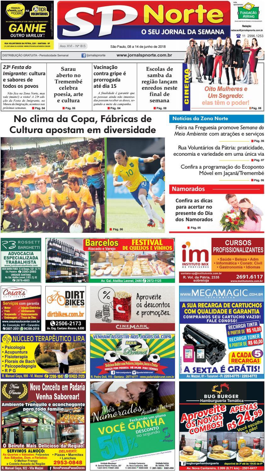 Edição 815 - 8 a 14 de Junho de 2018 by Jornal SP Norte - issuu 918f661352