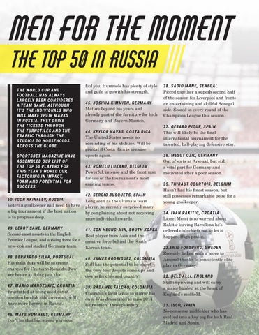 Page 12 of World Cup - Top 50 Players to Watch