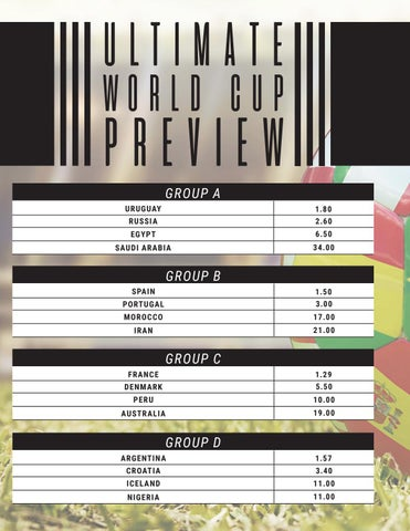 Page 20 of FIFA World Cup Russia Ultimate Betting Guide & Odds