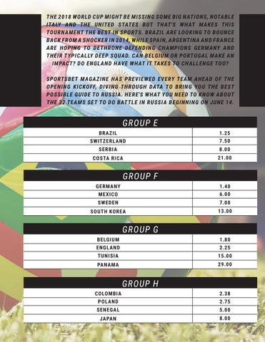 Page 21 of FIFA World Cup Russia Ultimate Betting Guide & Odds