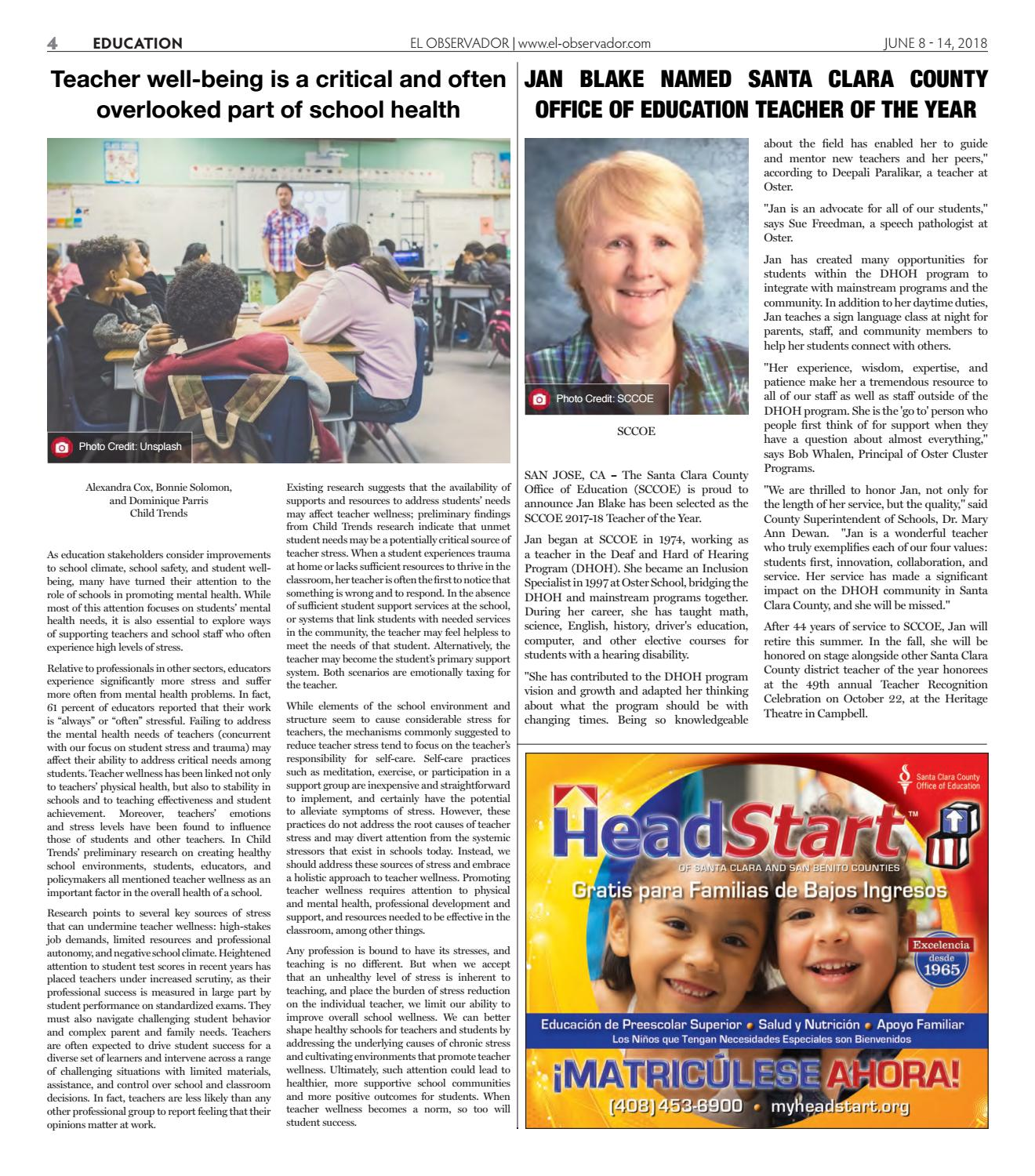 Student Stress Is Educations Overlooked >> El Observador 06 08 By Angelica Rossi Issuu