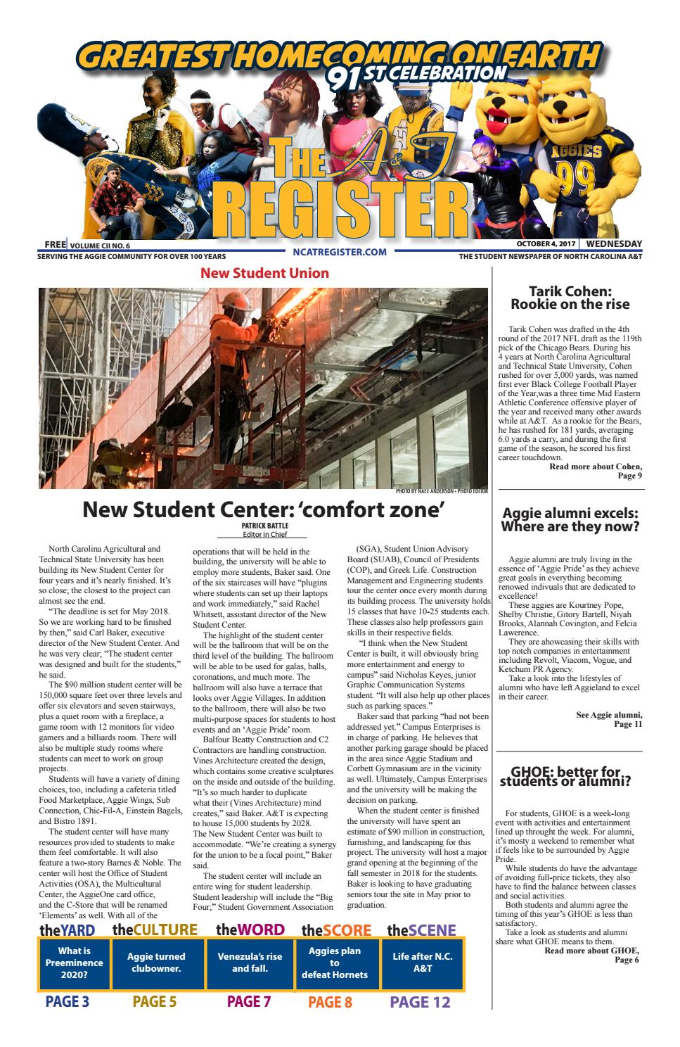 October 4, 2017 GHOE Edition by The A&T Register - issuu
