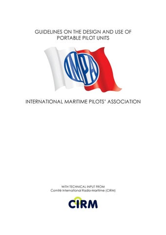 GUIDELINES ON THE DESIGN AND USE OF PORTABLE PILOT UNITS by