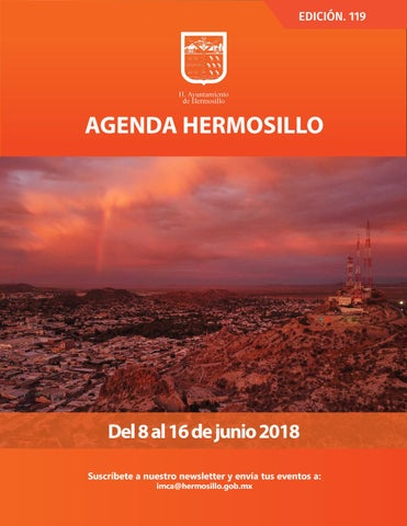 "Cover of ""Agenda Hermosillo 8 jun 2018"""