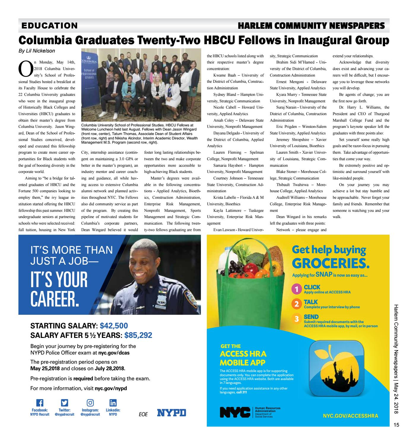 Harlem Community Newspapers | May 24, 2018 by Mike Kurov - issuu