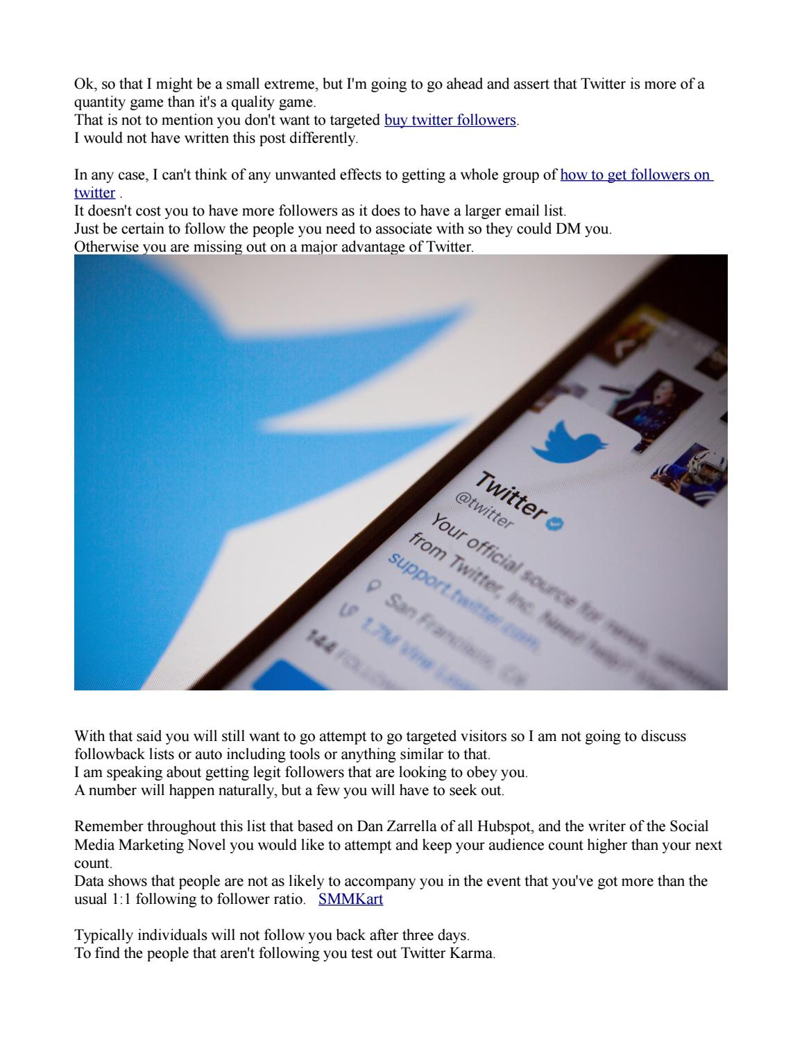 79e87ef87665f2 How to get followers on twitter by jaymesdean - issuu