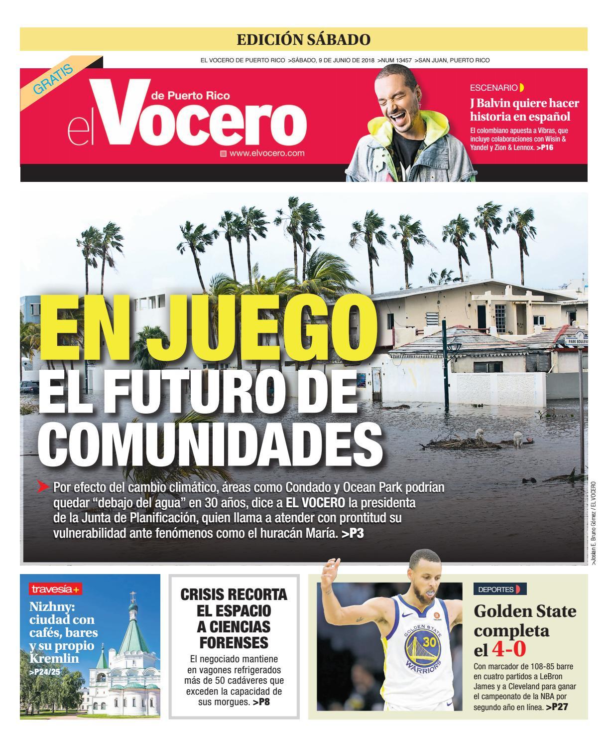 Edición del 9 de junio de 2018 by El Vocero de Puerto Rico - issuu