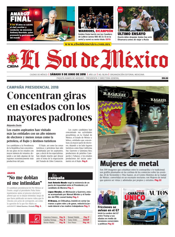 El Sol de México 9 de junio 2018 by El Sol de México - issuu af118d95378cf