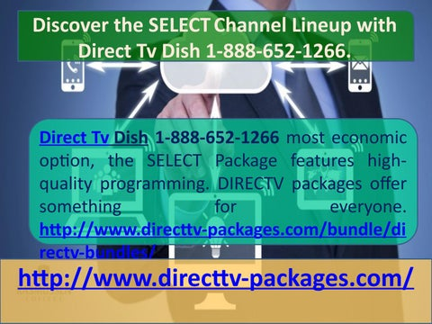 Discover the SELECT Channel Lineup with Direct Tv Dish 1-888