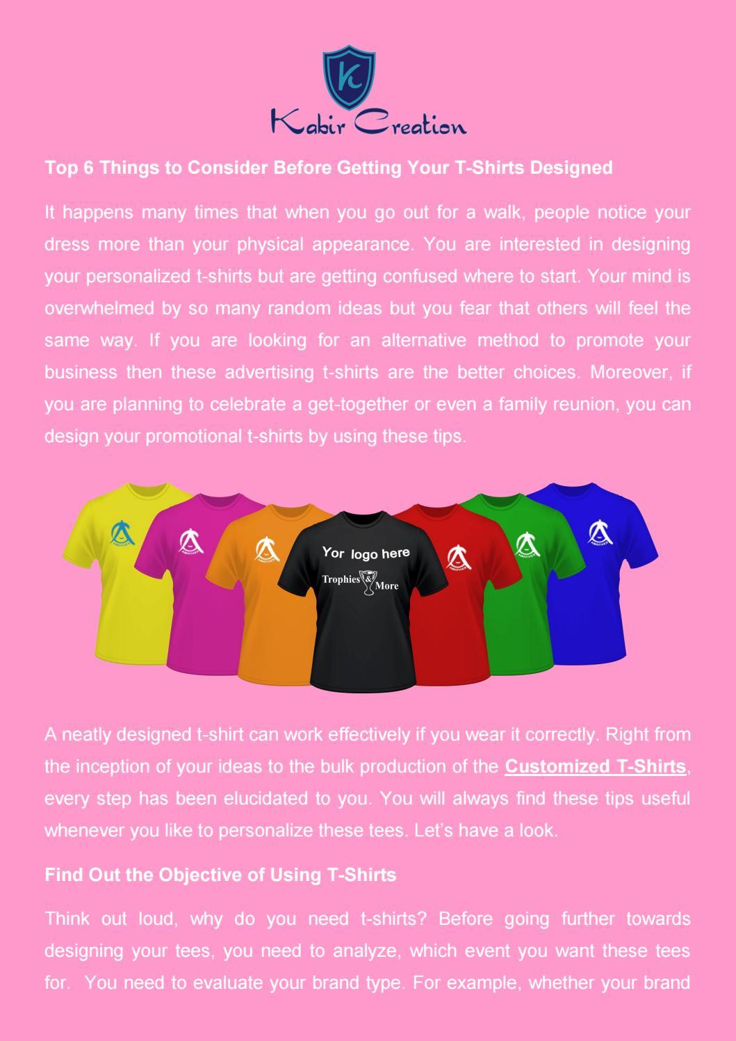 Customized T Shirts Kabir Creation By Kabir Creation Issuu