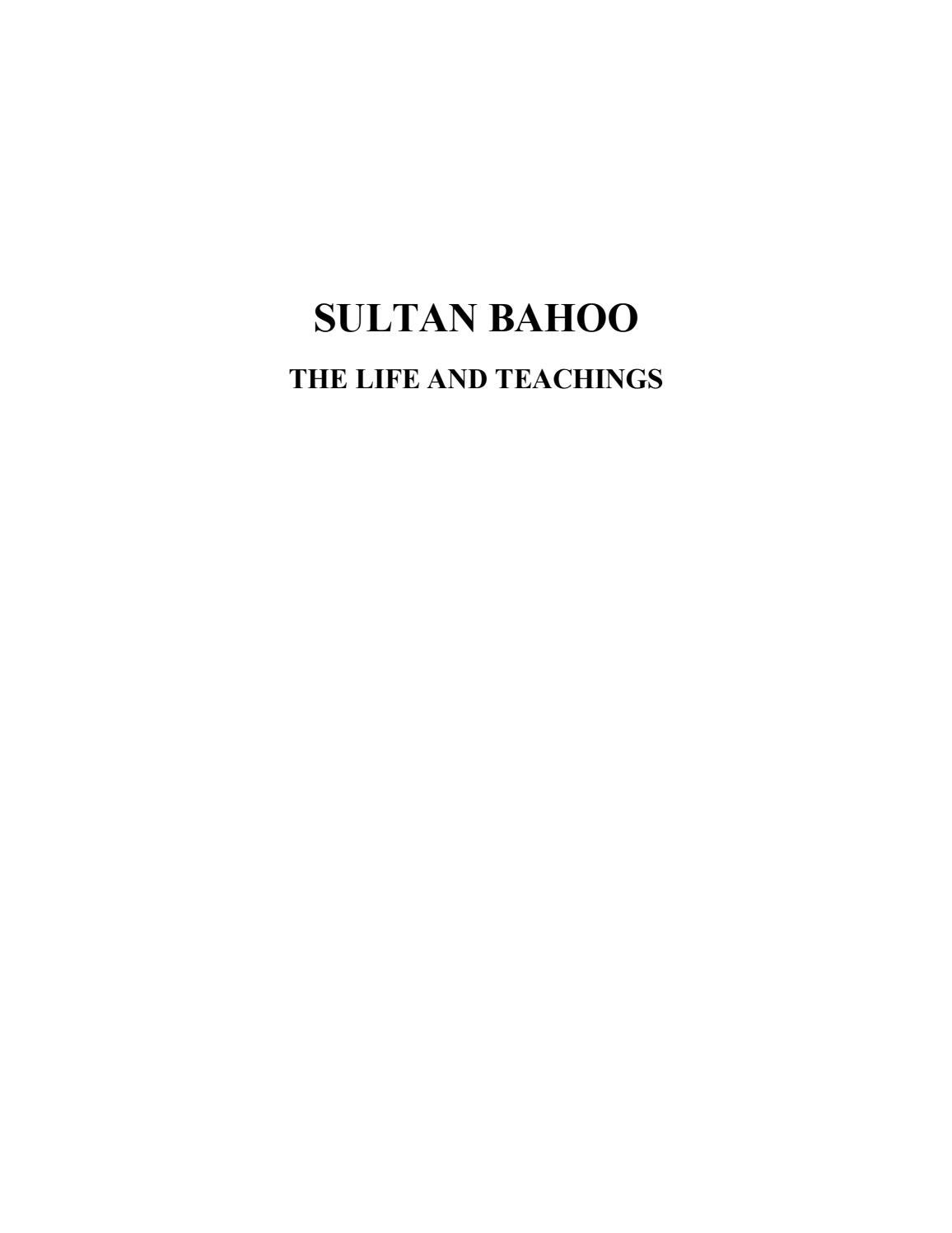 Sultan Bahoo The Life and Teachings by