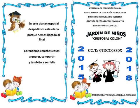 INVITACIÓN DE GRADUACIÓN DE FIN DE CICLO ESCOLAR by Chocorol Jose ...