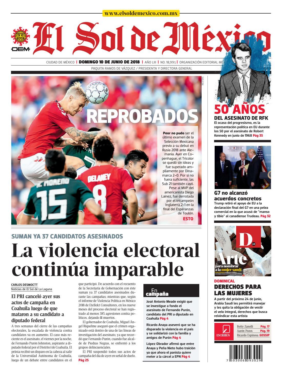 El Sol de México 10 de junio 2018 by El Sol de México - issuu