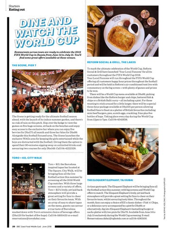 Page 22 of Dine and Watch the World Cup