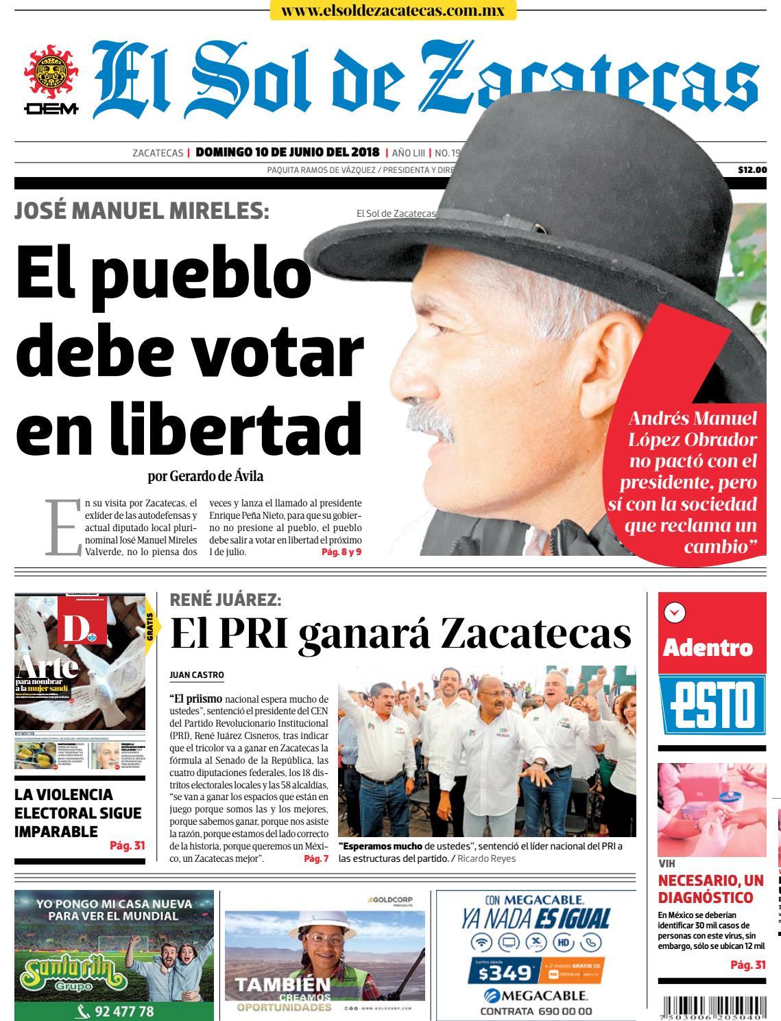 El Sol de Zacatecas 10 de junio 2018 by El Sol de Zacatecas - issuu 71421c1ed2a