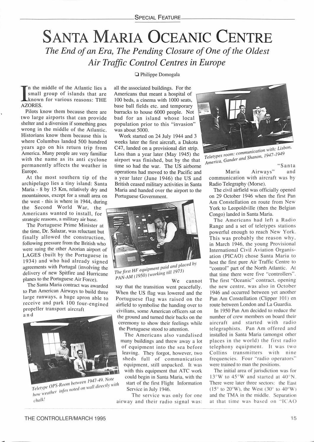 IFATCA The Controller - 1st Quarter 1995 by IFATCA - issuu