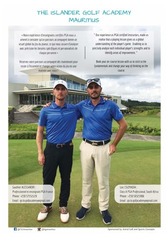 Page 19 of The Islander Golf Academy