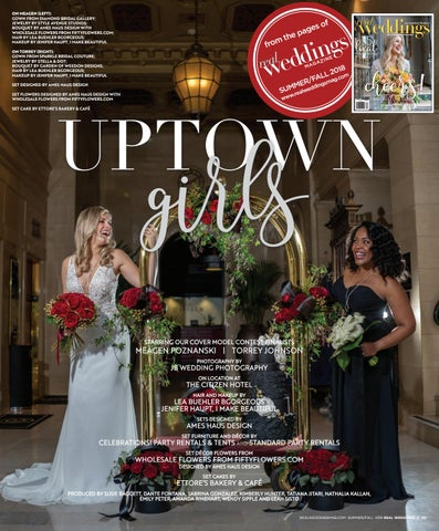 0e139f4c6250 Real Weddings Magazine—Summer/Fall 2018-Cover Model Finalist Shoot: Uptown  Girls—Digital Layout