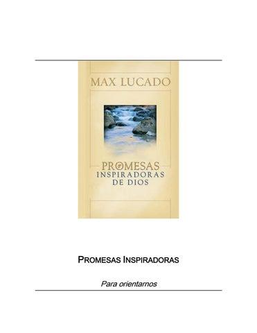 Max lucado Promesas Inspiradoras de Dios by Lety Zepeda - issuu