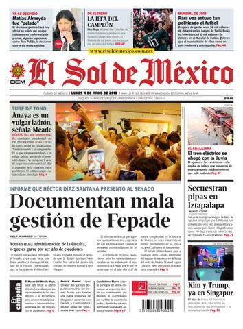 e993e7b63 El Sol de México 11 de junio del 2018 by El Sol de México - issuu
