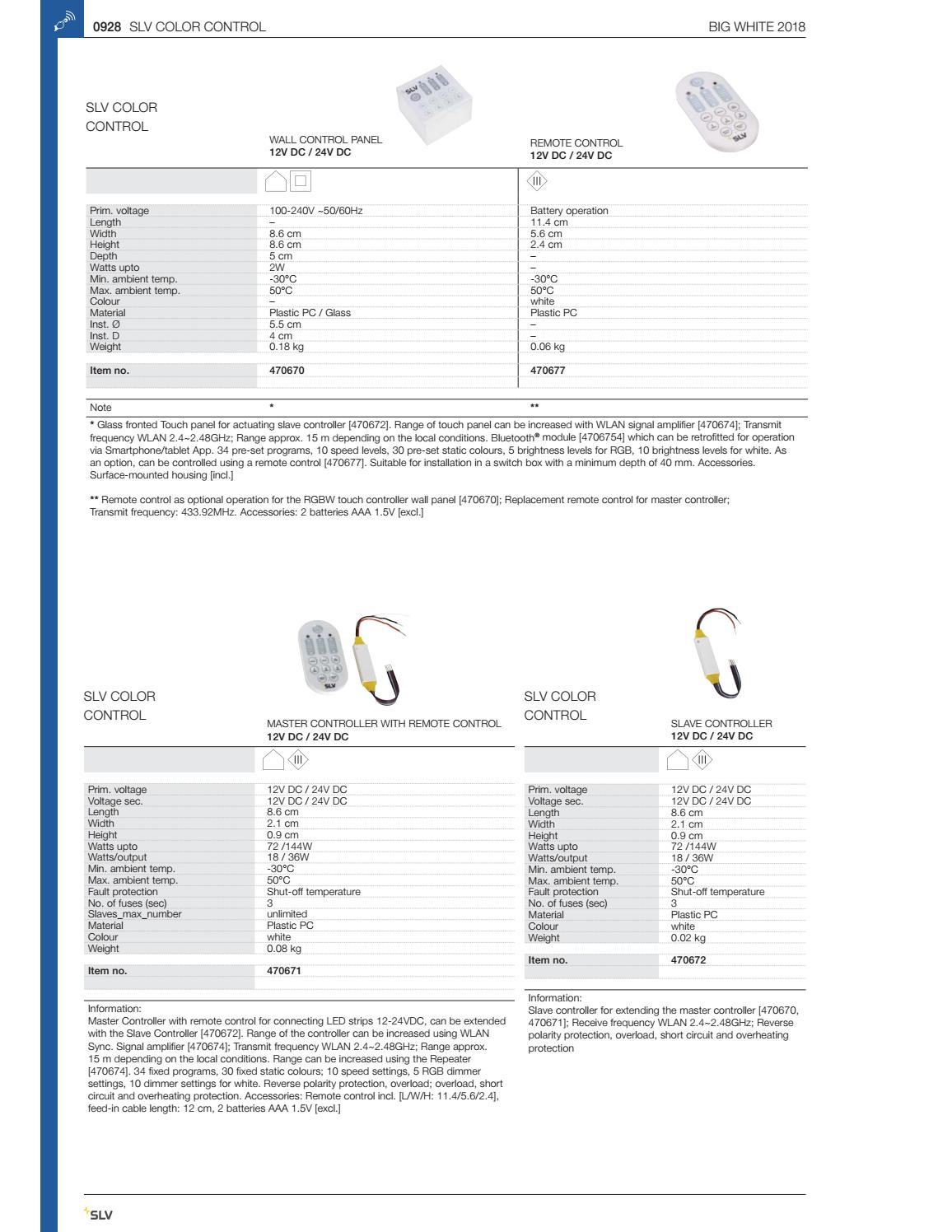 SLV Color Control Fernbedienung 470677