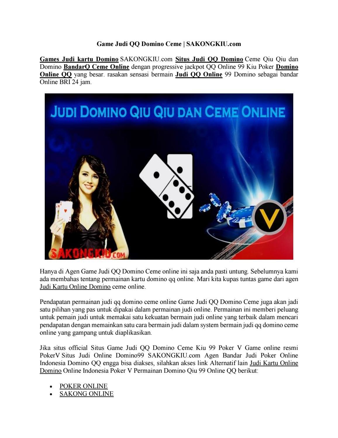 Game Judi Qq Domino Ceme Sakongkiu Com By Situs Judi Online Issuu