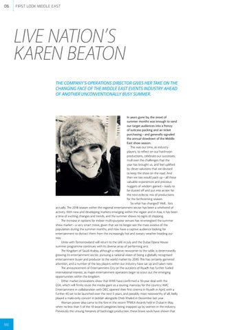 Page 6 of Live Nation's Karen Beaton
