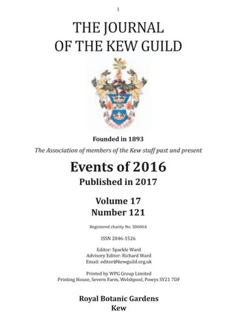 The Journal Of The Kew Guild Events Of 2016 By Kew Guild Journal