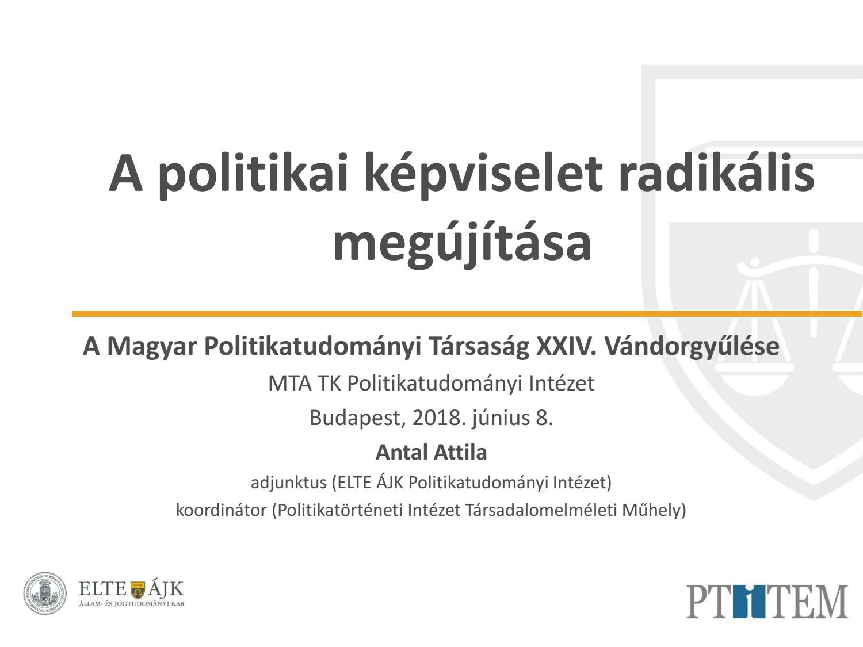 MTA Politikatudományi Intézet - T-Twins Kiadó