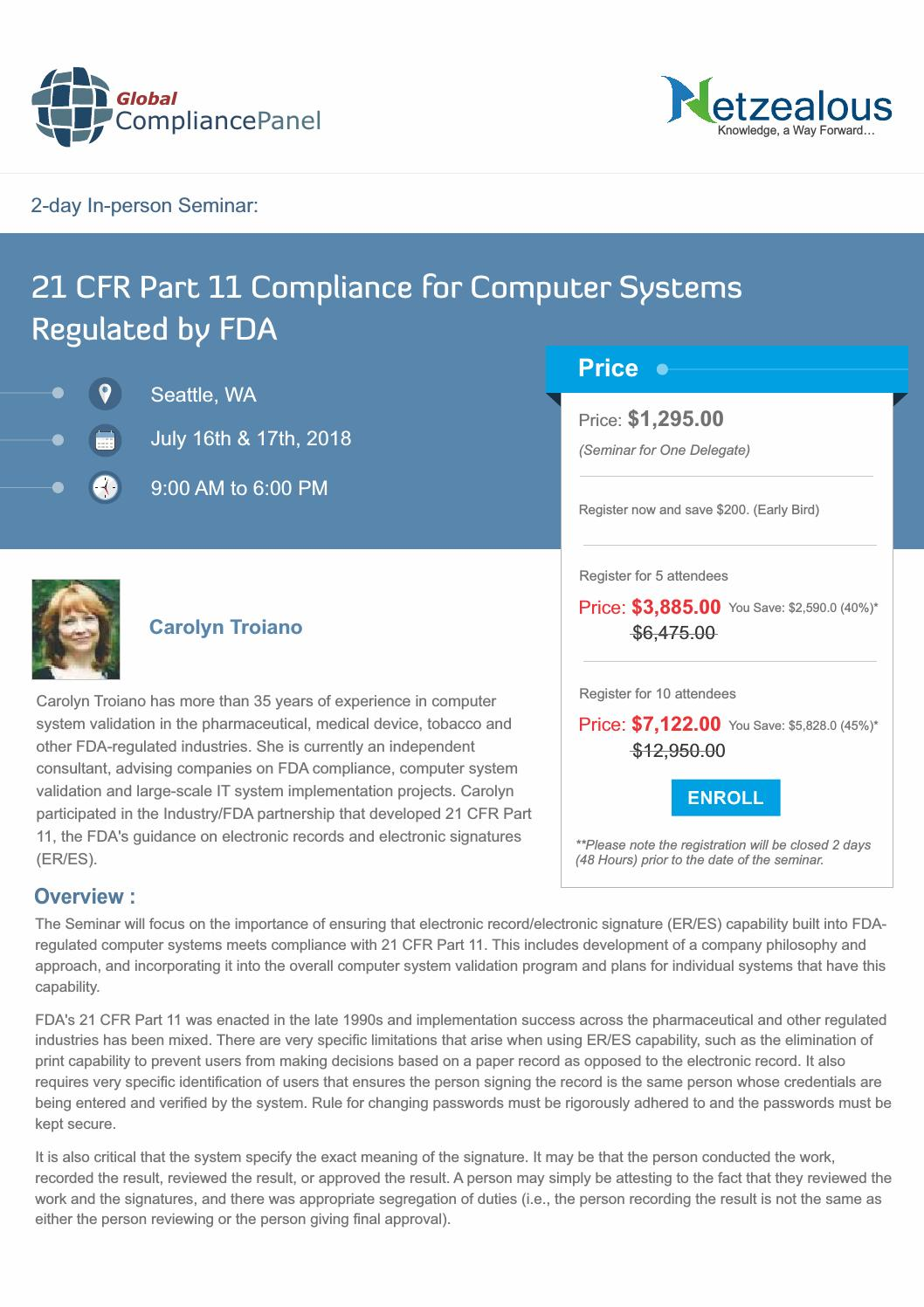 21 cfr part 11 compliance for computer systems regulated by fda by John  Robinson - issuu