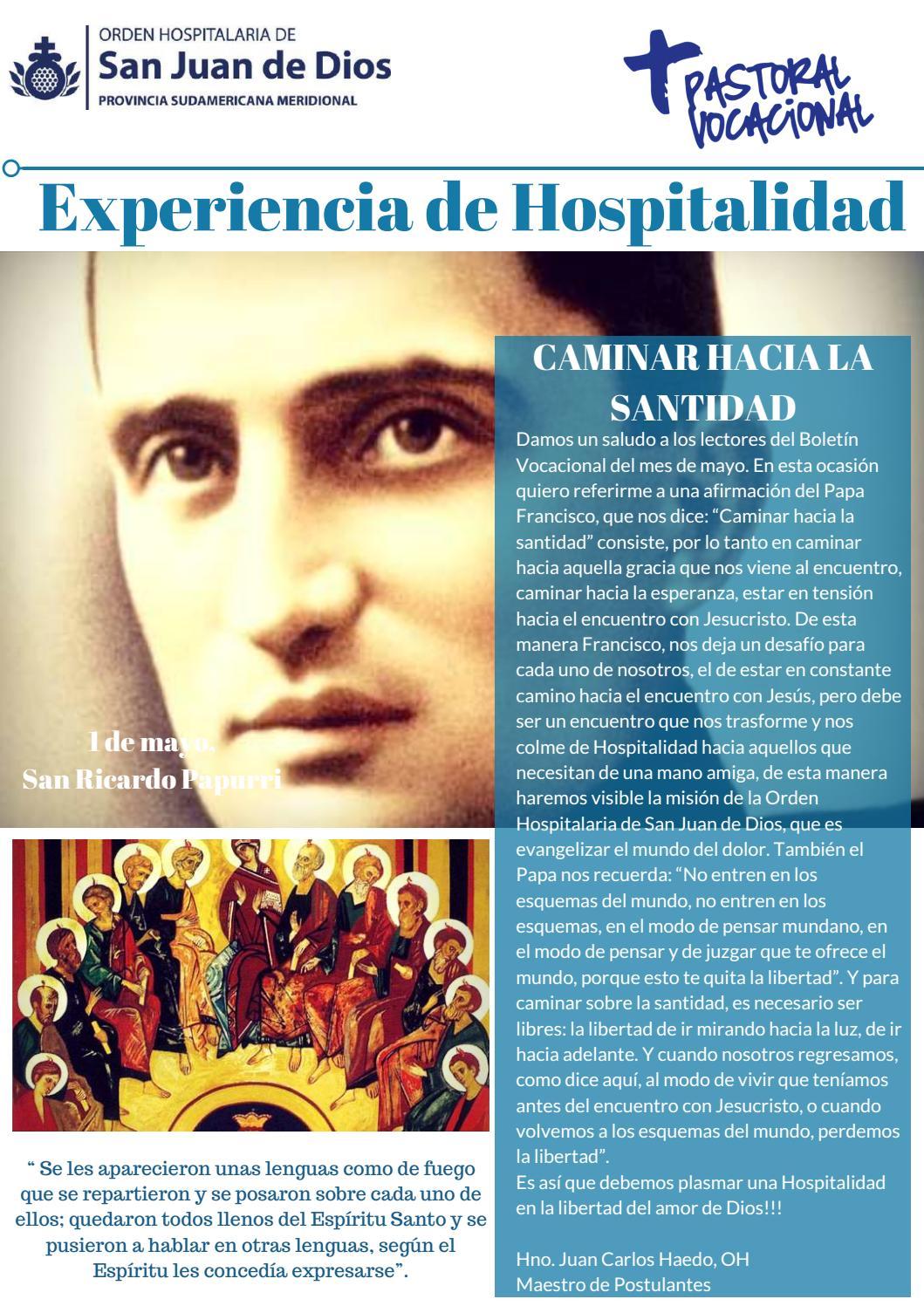 Experiencias De Hospitalidad Mayo 2018 By Revista Historia Y Vida Hsjd Issuu