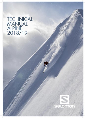Salomon Alpine Tech Manual 2018/19 by Salomon - issuu