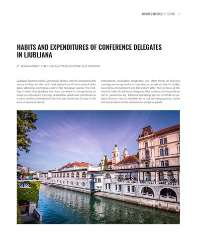 Page 11 of Congress delegates in Ljubljana spend 3.7 times more compared to leisure travellers