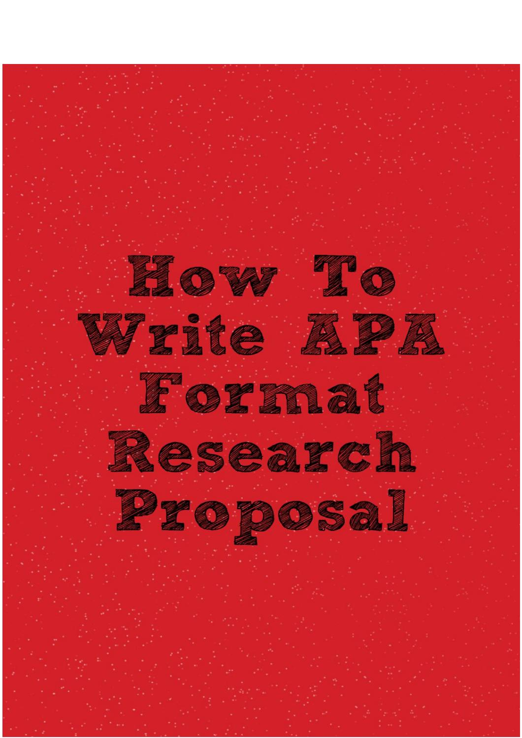 Apa format for research proposal writing cheap paper ghostwriter websites online