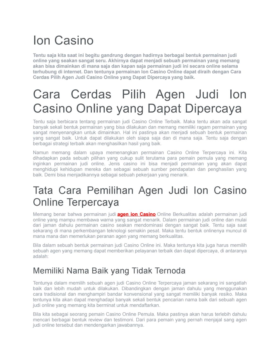 Ion Casino By Ion Casino Issuu