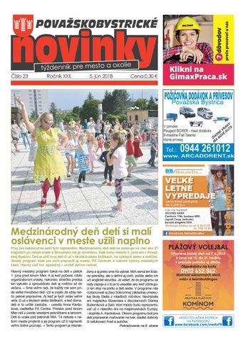 12a9e7572 Považskobystrické novinky č. 23/2018 by Považskobystrické novinky ...
