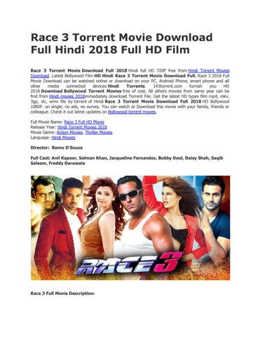 Race 3 torrent movie download full bollywood hd film by videosrack - issuu