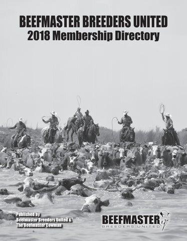 ea9566f8e0 2018 BBU Membership Directory by Beefmaster Breeders United - issuu