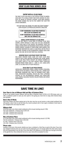 Page 7 of Ticket Information