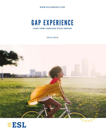 Gap Experience - Long term language stays abroad by ESL Education ...