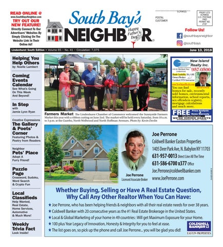 Dr Perrone Discard Junk Science On >> June 13th 2018 Lindenhurst South By South Bay S Neighbor Newspapers