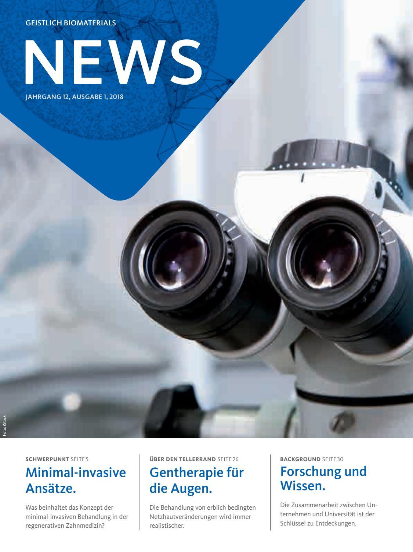 Geistlich News Ausgabe 1-2018 Deutsch by Geistlich_Pharma - issuu